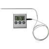 Meat thermometer. in black-and-silver