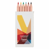 Pack of 6 Small Colouring Pencils