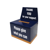 Charity Collection Box Flat Pack Small