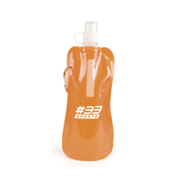 Fold Up Bottle 400Ml Reusable Roll Up Bottle With Carabiner