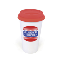 Plastic Take Out Mug 350Ml