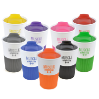 Rubber Base Plastic Take Out Mugs
