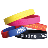 Silicone Wristbands Debossed and Infilled