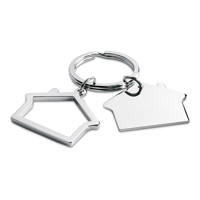 Metal Key Ring House Shape