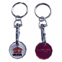 Trolley Coin Keyring - Enamelled - 1 Side