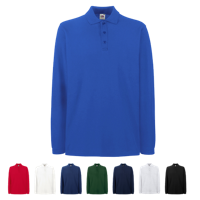 Premium Long Sleeve Pique Polo Shirt