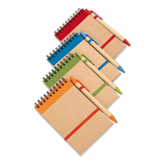 Recycled Paper Notebook And Pen