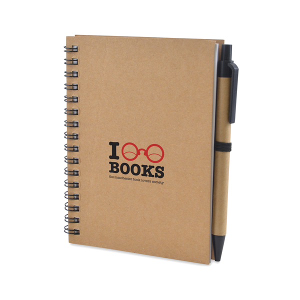Recycled Wiro Notebook with Pen